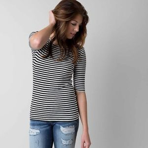 Free People Leader of the Pack Striped Tee XS